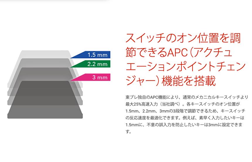 REALFORCE for Macのキーボードをレビュー!APCでキースイッチのオン位置を変更