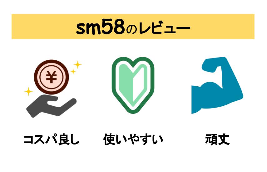 sm58のレビュー図