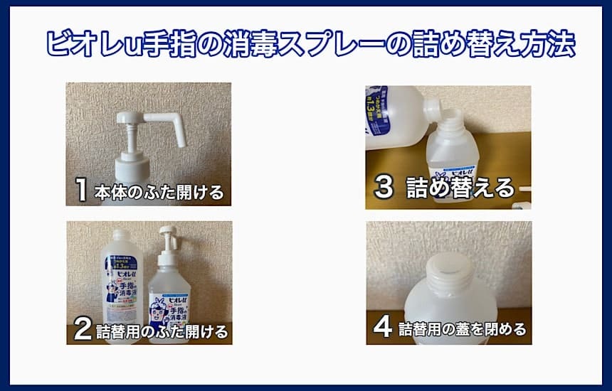 ビオレu手指の消毒スプレーの詰め替え方法