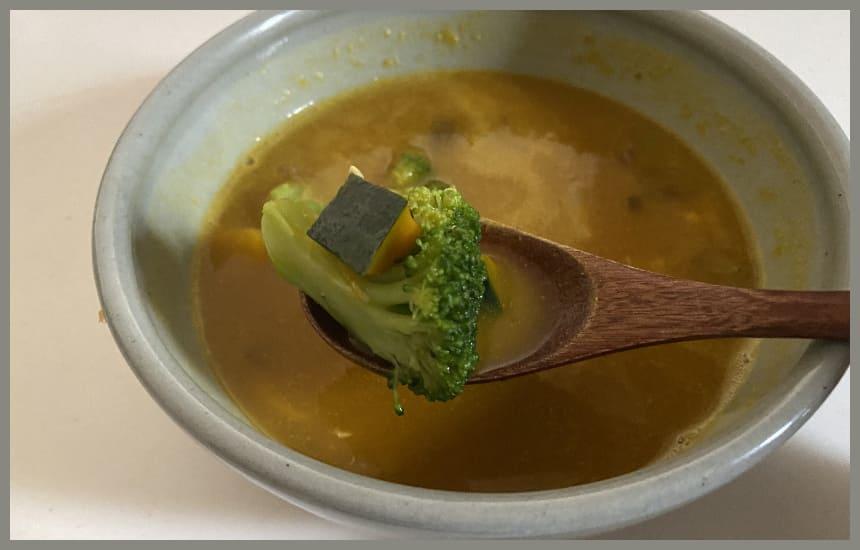 グリーンスプーンのかぼちゃのスープのぶろっこりー