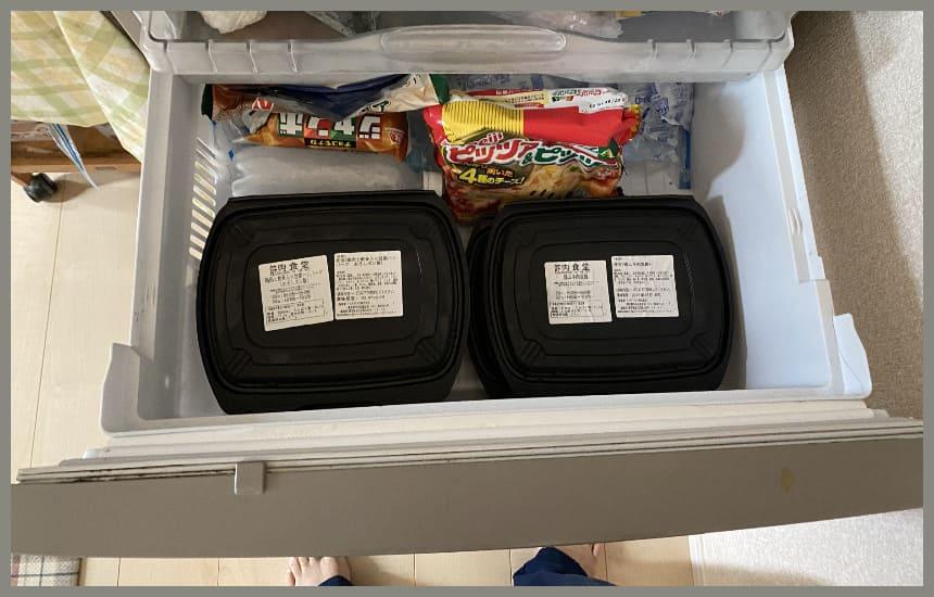 筋肉食堂deliの冷凍庫に収納できた
