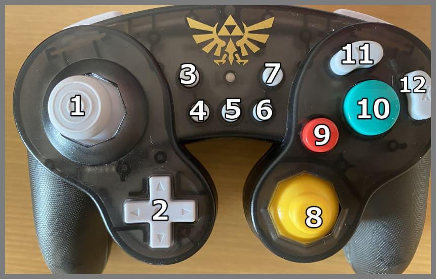 ホリコンのボタンの数の真正面