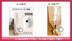 「ic-sldc8」との比較