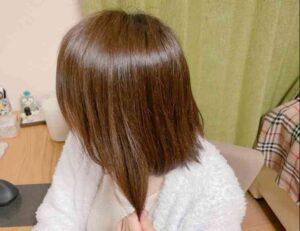 ルメントヘッドスパを使った髪