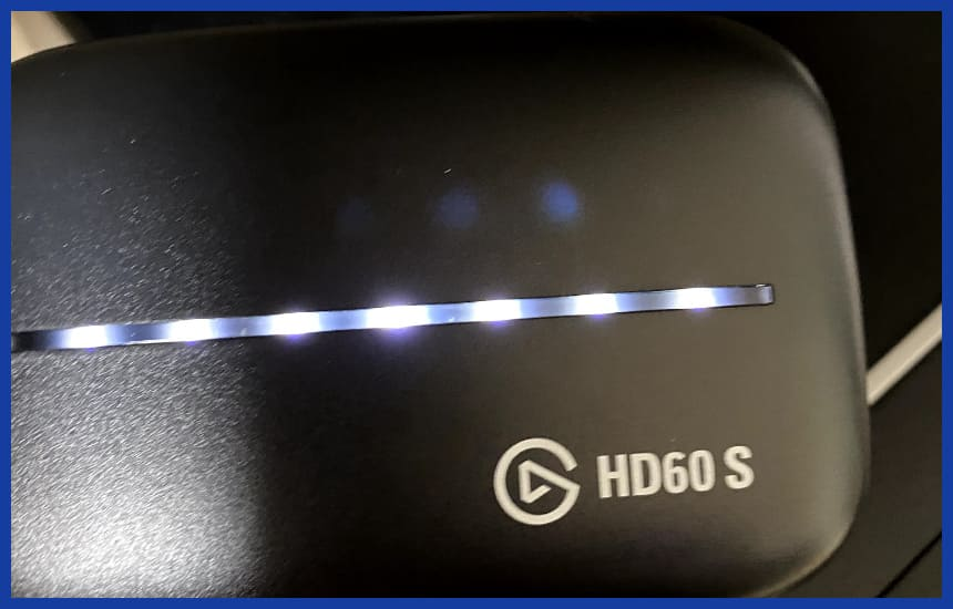 HD60Sがひかっている