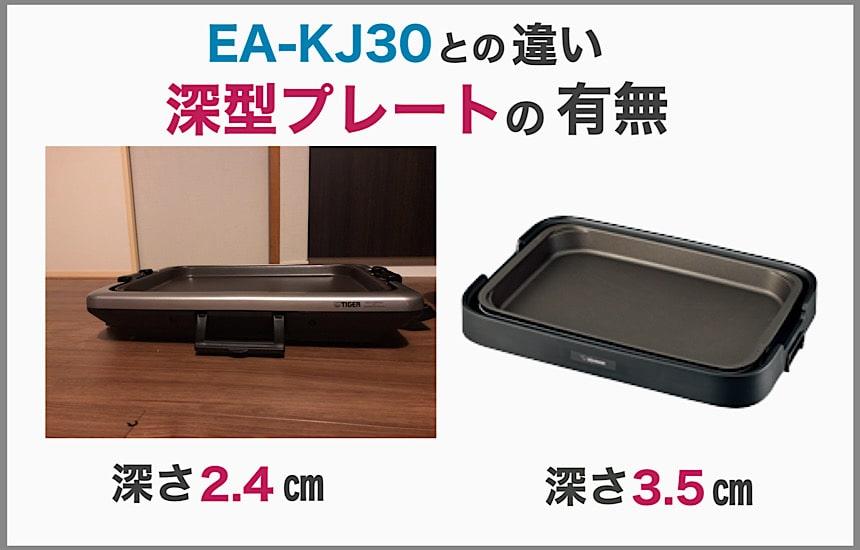 CRV-G300とEA-KJ30の違いは深型プレートの有無