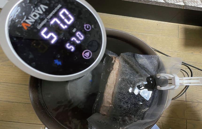 低温調理中の画像
