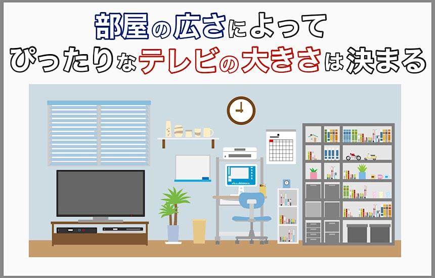 部屋の広さテレビ