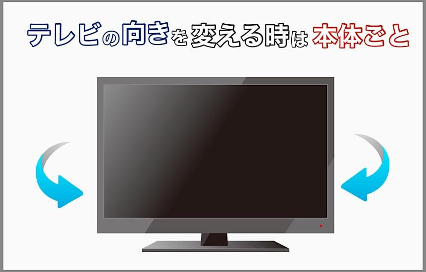 テレビの向きは本体ごと