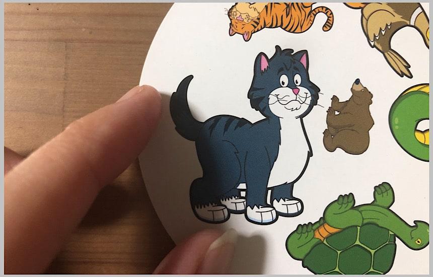 ネコの絵のアップ