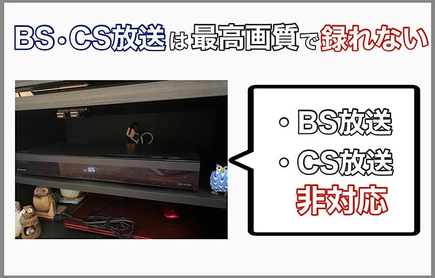 BS・CS放送は非対応