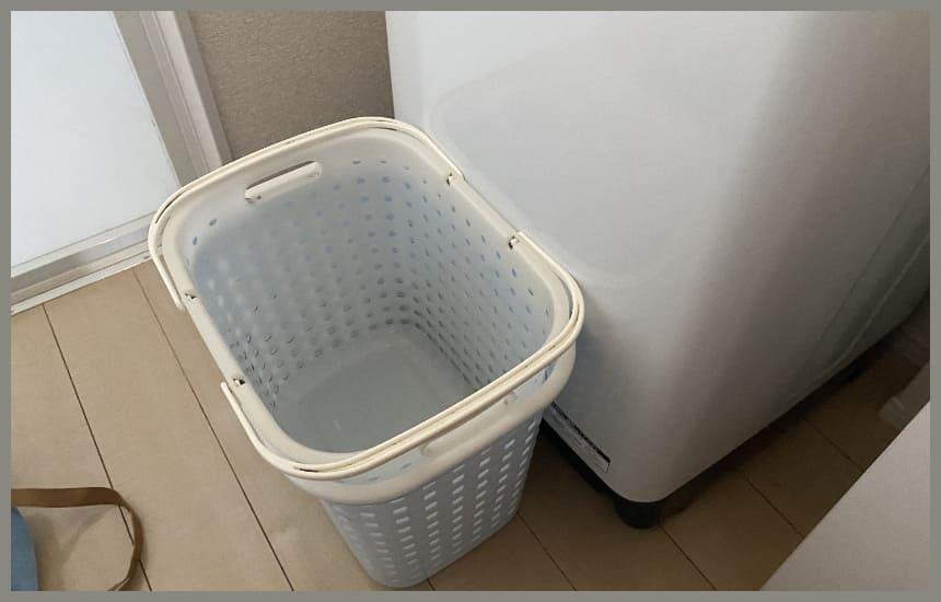 bw-v100eと洗濯籠