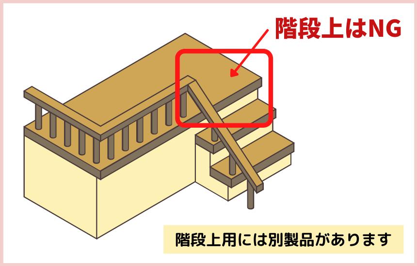 木のオートロックゲートは階段上に使えない