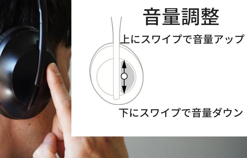 Bose NCH700操作方法(音量調整)