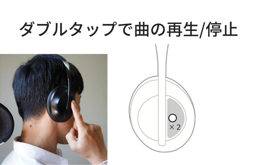 Bose NCH700操作方法(再生/停止)