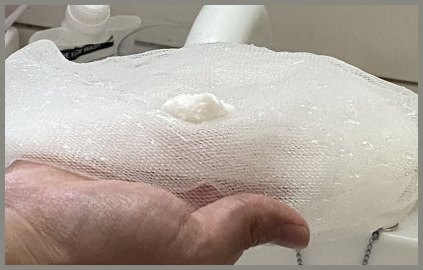 バルクオムの洗顔をネットに出している