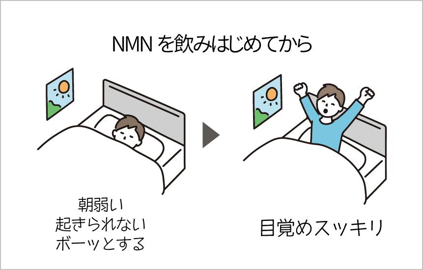 nmnを飲み始めて目覚めがよくなった