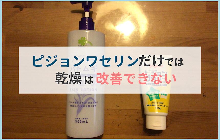 化粧水とピジョンワセリン