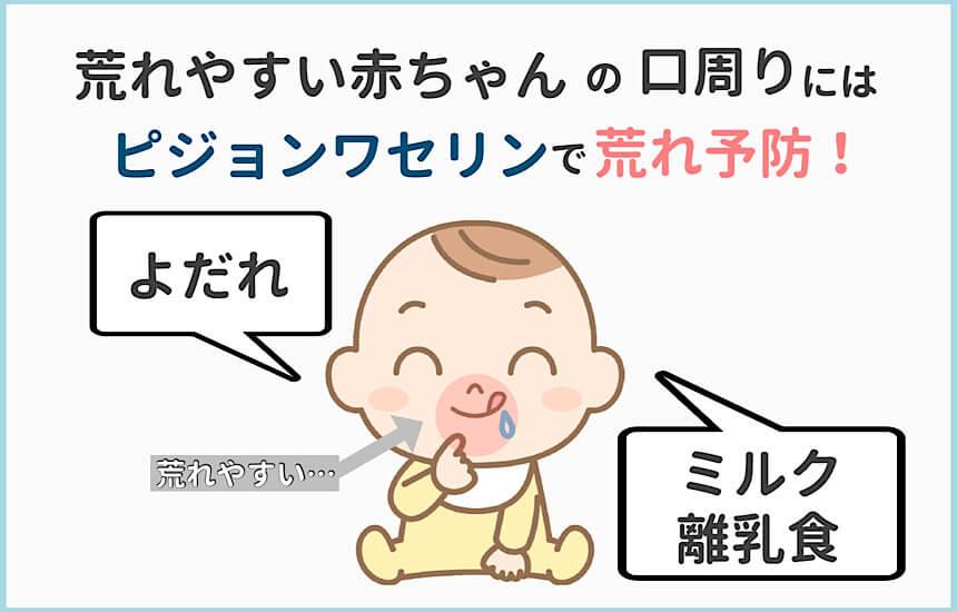 赤ちゃんの口周りはよだれやミルク・離乳食で荒れやすい