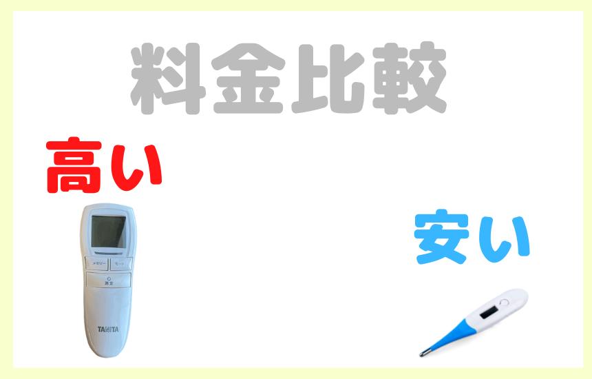 非接触式体温計 BT-540の価格は脇の下で測るタイプとの比較