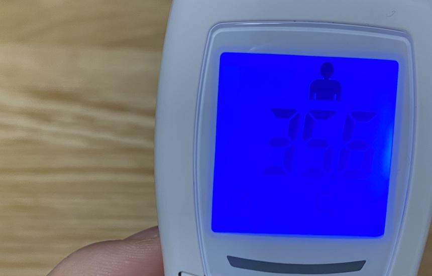 体温測定結果表示