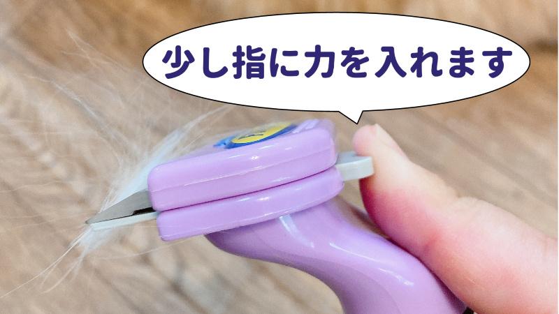 ファーミネーターについた毛を取るときの写真