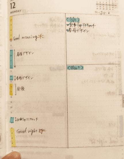 edit手帳のある日のページ1